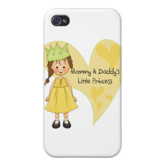 Brown Hair Mommy and Daddy's Princess Case For iPhone 4