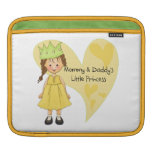 Brown Hair Mommy and Daddy's Princess iPad Sleeves
