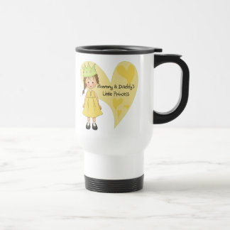 Brown Hair Mommy and Daddy's Princess Travel Mug