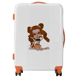 Brown Hair Princess Fairy Girl Luggage