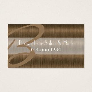 Brown Hair Salon Colorist Stylist Business Cards