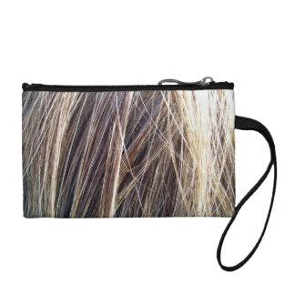 Brown Hair Texture Coin Wallet