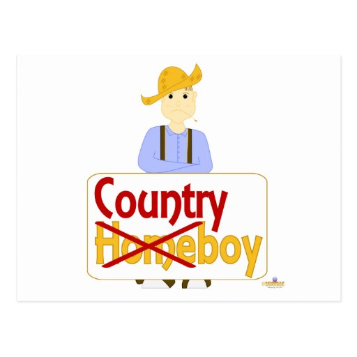 Brown Haired Frowning Farmie Brown Pants Country X Post Card