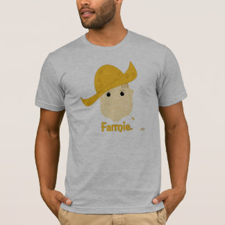Brown Haired Frowning Farmie Face Farmie T-Shirt