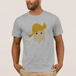 Brown Haired Frowning Farmie Face T-Shirt
