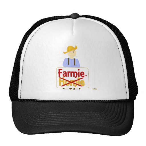 Brown Haired Grinning Farmie Brown Pants Farmie X  Trucker Hat
