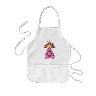 Brown haired princess kids' apron