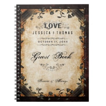 Halloween Themed Brown Halloween Wedding LOVE Gothic GUEST BOOK