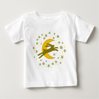 Brown Hare and Crescent Moon in a Starry Sky Tee Shirt