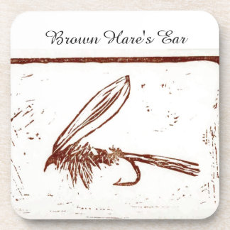 """""""Brown Hare's Ear"""" Trout Wet Fly Coaster"""