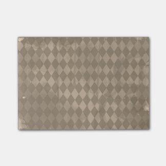 Brown Harlequin Grunge Post-it® Notes