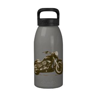 Brown Harley Motorcycle Drinking Bottle