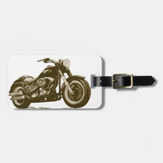 Brown Harley Motorcycle Luggage Tag