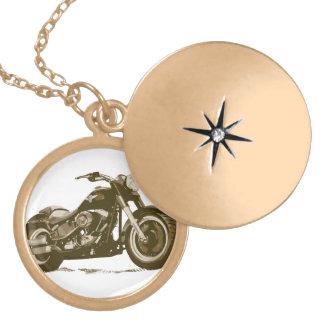 Brown Harley Motorcycle Pendant