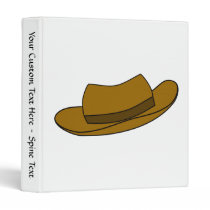Brown hat illustration. On White. Binder