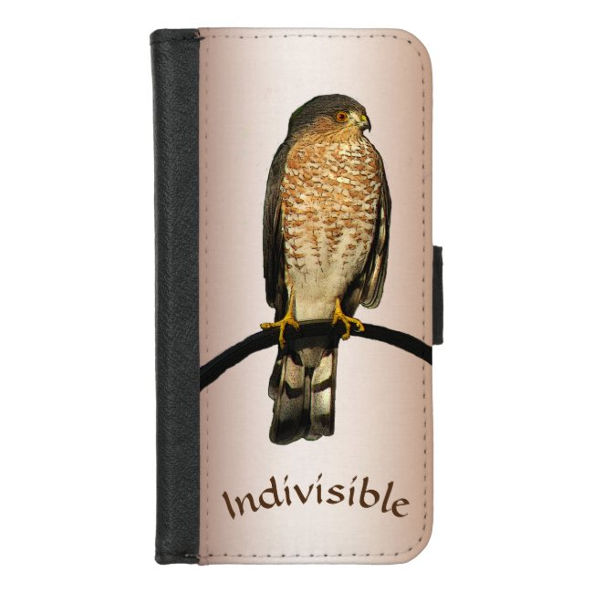 Brown Hawk Indivisible iPhone 8/7 Wallet Case