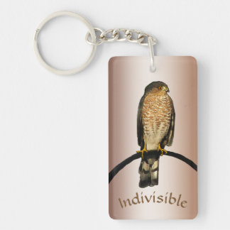 Brown Hawk Indivisible Keychain