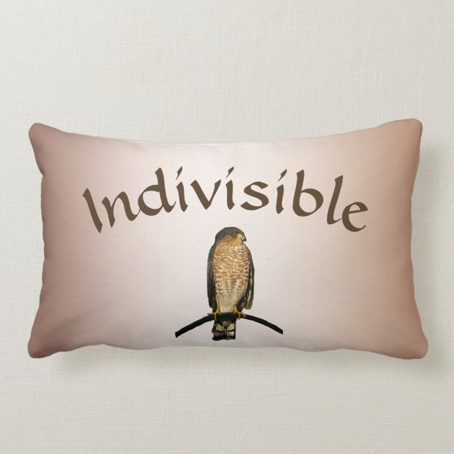 Brown Hawk Indivisible Lumbar Pillow