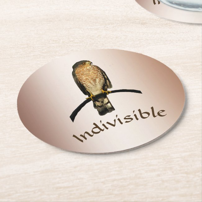 Brown Hawk Indivisible Paper Coasters