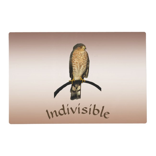 Brown Hawk Indivisible Placemat