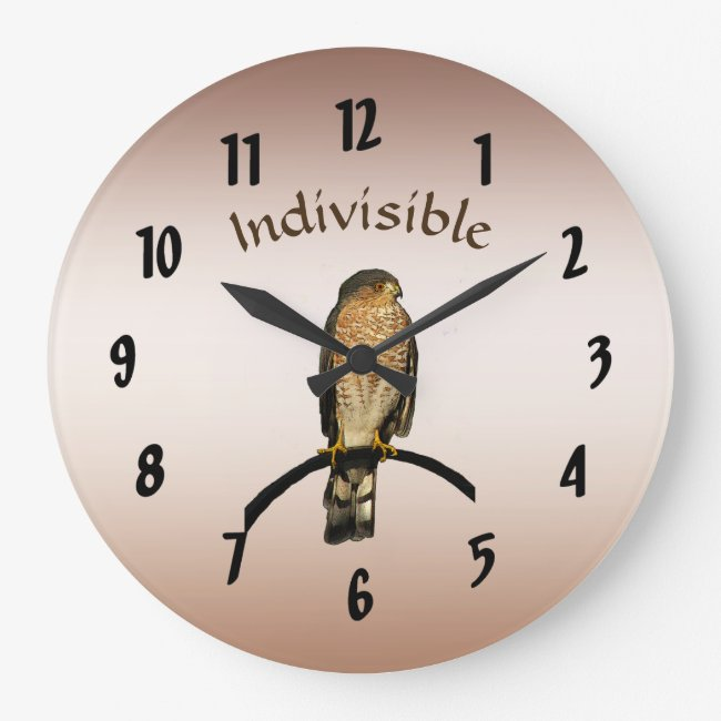 Brown Hawk Indivisible Wall Clock