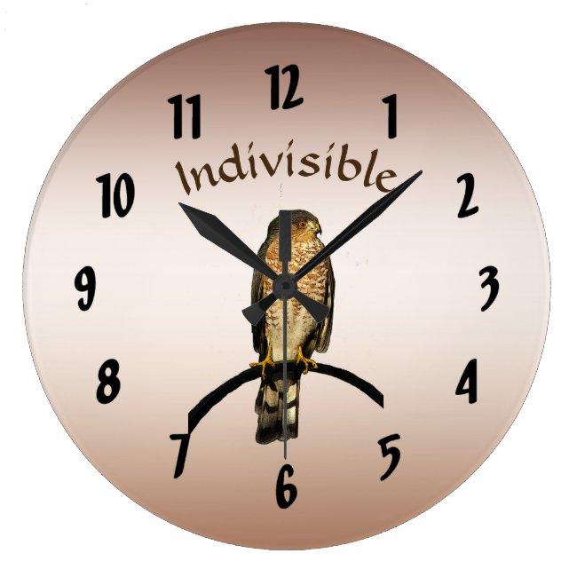 Brown Hawk Indivisible Wall Clock