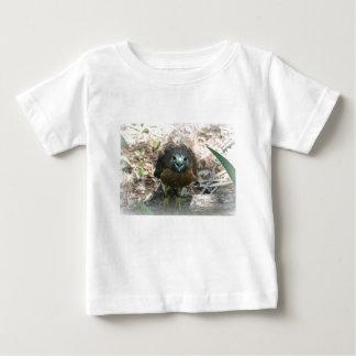 Brown Hawk mouth open glaring at camera Baby T-Shirt