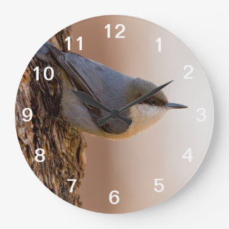 Brown-headed Nuthatch Large Clock