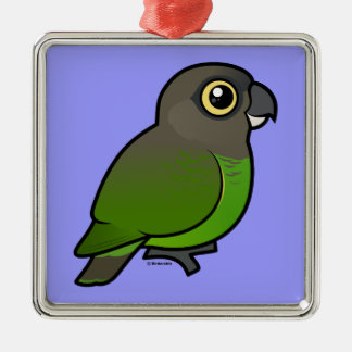 Brown-headed Parrot Christmas Tree Ornament