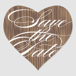 Brown Heart  |  Save the Date Envelope Seal Heart Sticker
