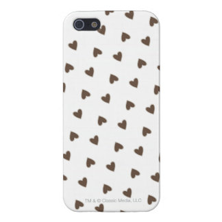 Brown Hearts Pattern Cover For iPhone SE/5/5s