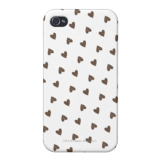 Brown Hearts Pattern iPhone 4/4S Cover