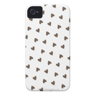 Brown Hearts Pattern iPhone 4 Case
