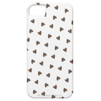 Brown Hearts Pattern iPhone SE/5/5s Case
