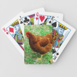 Brown Hen Bicycle Playing Cards