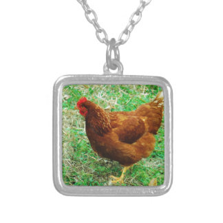 Brown Hen Personalized Necklace