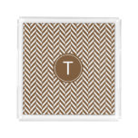 Brown Herringbone Custom Acrylic Tray