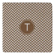 Brown Herringbone Custom Trivet