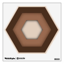 Brown Hex Wall Decal