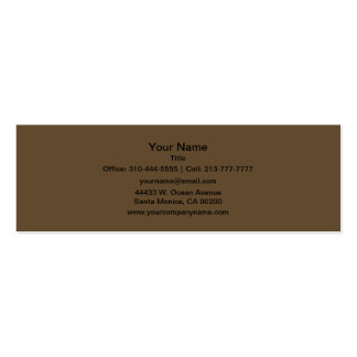 Brown Hide Solid Color Business Cards