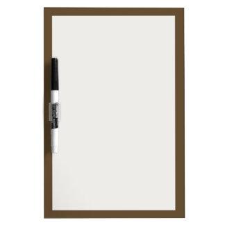 Brown Hide Solid Color Dry-Erase Board