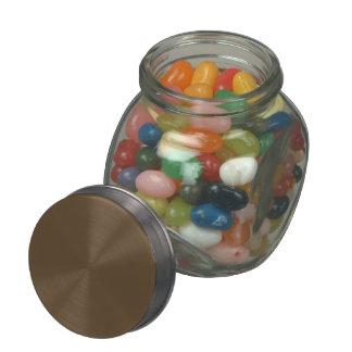 Brown Hide Solid Color Glass Jars