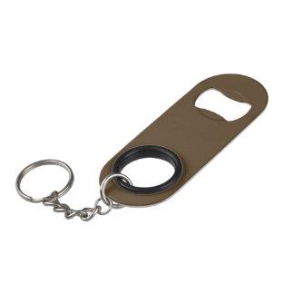 Brown Hide Solid Color Keychain Bottle Opener