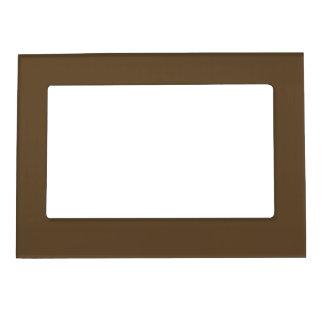 Brown Hide Solid Color Magnetic Photo Frame