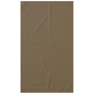 Brown Hide Solid Color Tablecloth