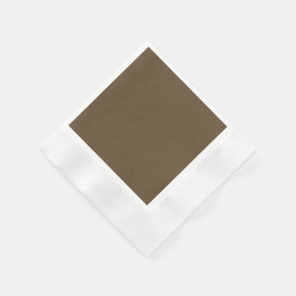 Brown Hide Solid Color Coined Cocktail Napkin