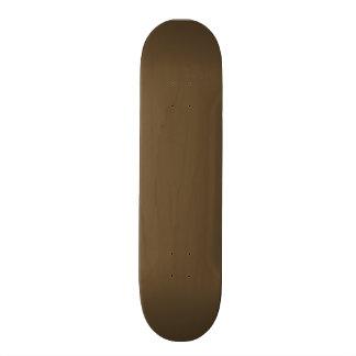 Brown Hide Solid Color Skateboard Deck
