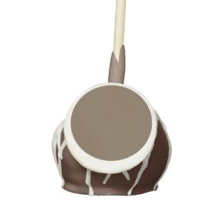 Brown Hide Solid Color Cake Pops
