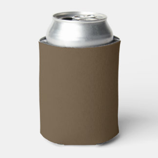 Brown Hide Solid Color Can Cooler