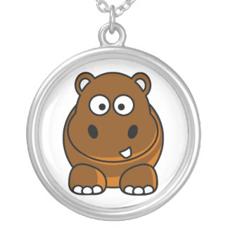 Brown Hippo Necklace